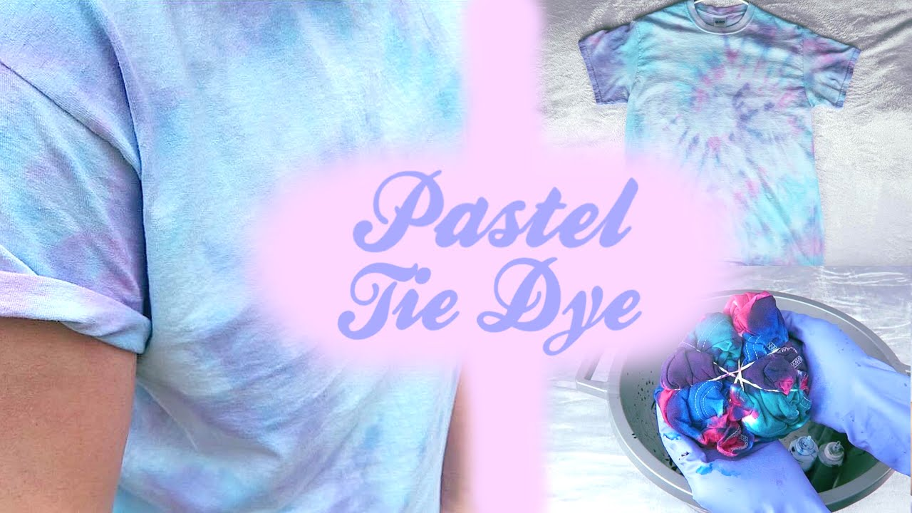 Pastel tie dye diy 3 dying techniques jonathan eiter for How do you dye a shirt
