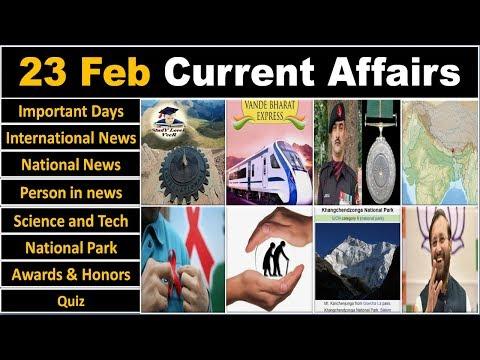 23 February 2019 PIB News, The Hindu, Indian Express - Current Affairs in Hindi, Nano Magazine, VeeR
