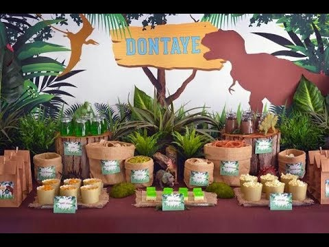 Fiesta de dinosaurios 2017 party fiestas infantiles for Decoracion para mesa dulce