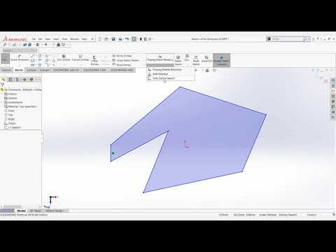Video Tech Tip: How to Fully Define Sketches in SOLIDWORKS