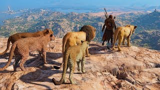 The Lion King - Assassin's Creed Origins Tribal Assassin High Action Combat & Hunter Kills