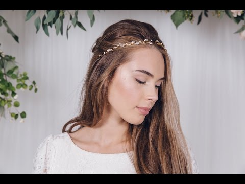 Five Ways To Wear A Bridal Ribbon Tie Headband