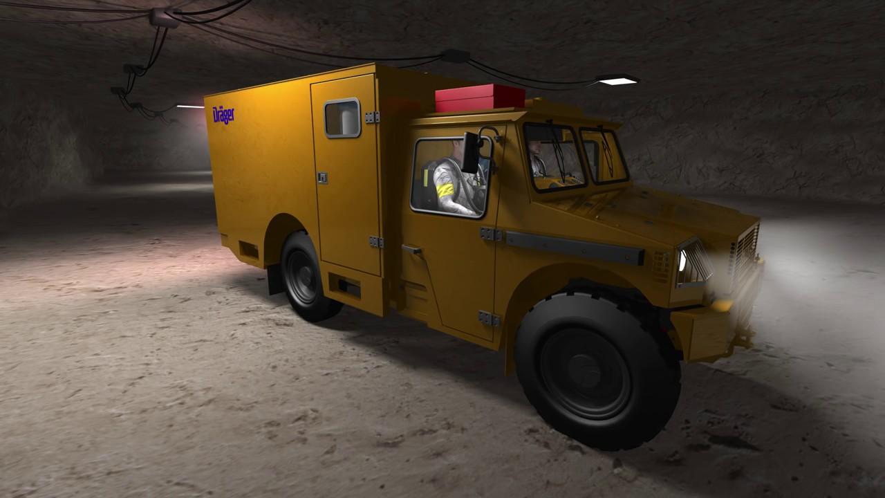 Mine Rescue Vehicle Dräger MRV 9000 Design for Mining Safety