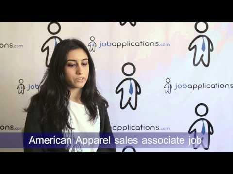 American Apparel Interview - Sales Associate