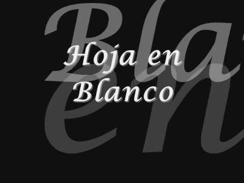 Hoja en blanco - Monchy & Alexandra (letra)
