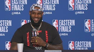 LeBron James Gets Shocked By Reporter Who Says He's Been Clutch His Whole Career!