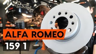How to replace Brake shoe set on ALFA ROMEO 159 Sportwagon (939) - video tutorial