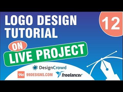 Logo Design Tutorial | on Live Project #12 | designcrowd | 99designs | freelancer.com thumbnail