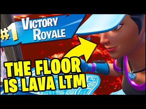 Fortnite *NEW* THE FLOOR IS LAVA LTM VICTORY ROYALE GAMEPLAY (Fortnite Battle Royale)