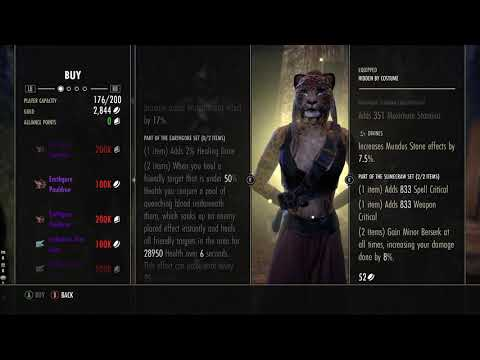 Elder Scrolls Online Golden Vendor Items 19th April 2019