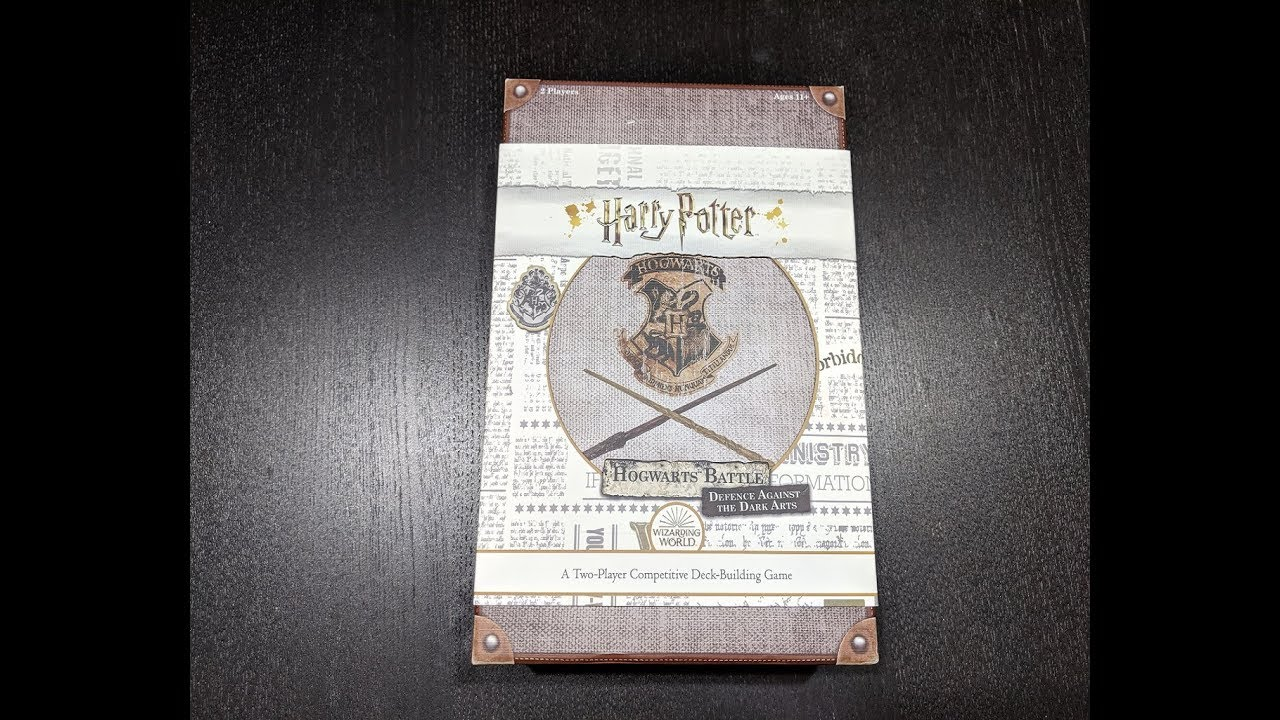 Harry Potter Hogwarts Battle Defense Against The Dark Arts Unboxing Video Boardgamegeek
