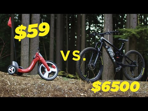 $59 Walmart Bike vs. $6500 Mountain Bike