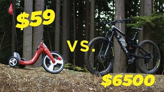 One of Matt and Jason's most viewed videos: $59 Walmart Bike vs. $6500 Mountain Bike
