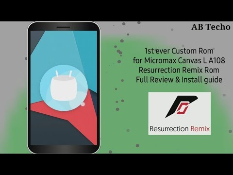 Micromax A108 Canvas L Custom ROM Videos - Waoweo