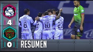Puebla FC 4-0 FC Juárez | Resumen | Jornada 6 | Liga BBVA MX