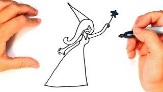 Como dibujar un Hada para niños | Dibujo de Hada paso a paso