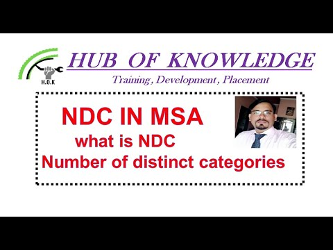 """NDC , What Is NDC """" Number Of Distinct Categories"""" S.k Sharma"""