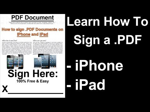 HOW TO SIGN PDFs ON A PHONE - iPhone iPad - Sign Date & Draw - Guide