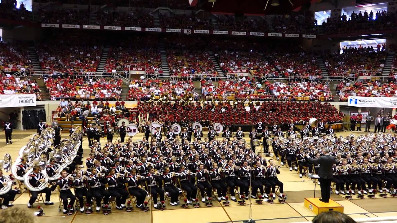 Ohio State Marching Band Slow Fight Song at Skull Session 9 27 2014 OSU vs  UC de061cb7f