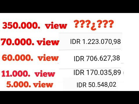 Berapa uang per view di youtube