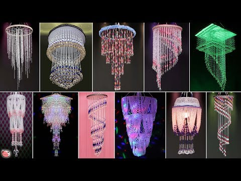 20 Home Special...  Pearls Chandelier Craft Ideas !!! DIY Wall Hanging Room Decor