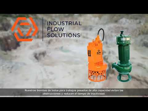 Hard Metal Submersible Slurry Pumps for the Mining Industry - Industrial Flow Solutions (Spanish)
