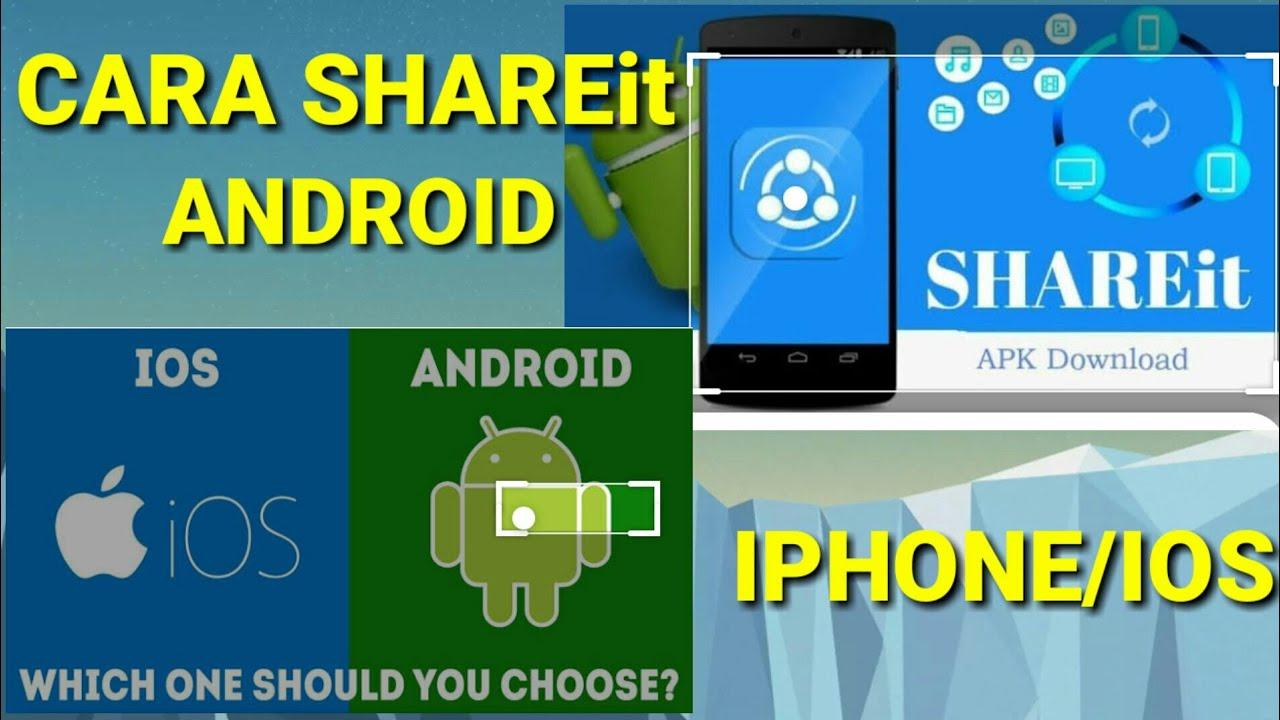 Cara SHAREit dari Android ke iPhone - YouTube