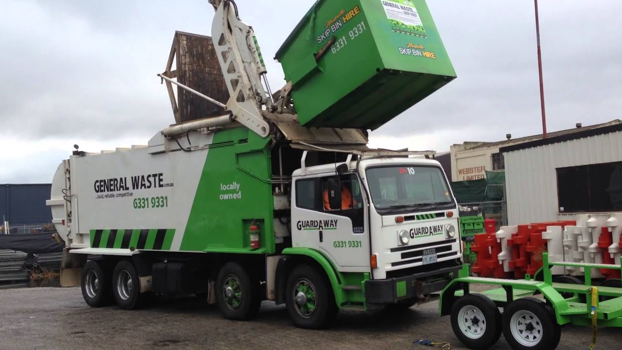 Frontlift Truck And Mobile Skip Bin Video