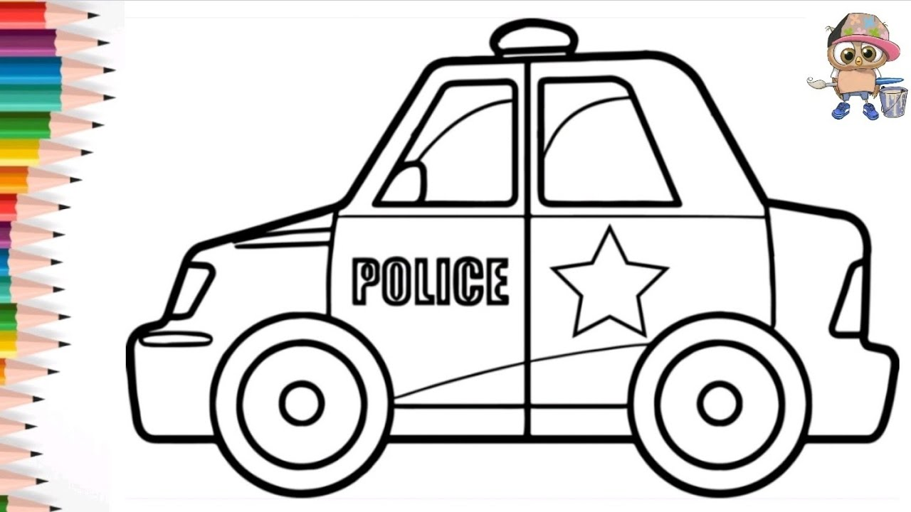 Раскраска для детей ПОЛИЦЕЙСКАЯ МАШИНА /POLICE CAR ...