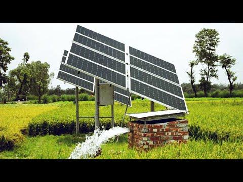 Solar Powered Borewell Running 2 High power motors