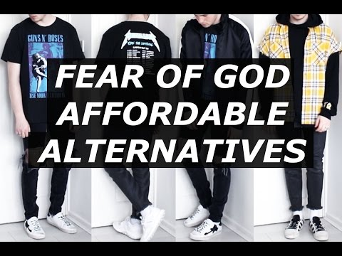 FEAR OF GOD Affordable Alternatives | Streetwear, FOG, Haul, Fashion Blogger, Budget | Gallucks