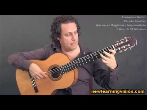Picado Studies - Online flamenco guitar lesson demo (Adv-Beginner to Intermediate)