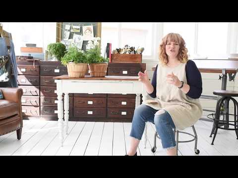 """Distressing a Farmhouse Table & Getting the """"Chippy Look"""" with Milk Paint"""