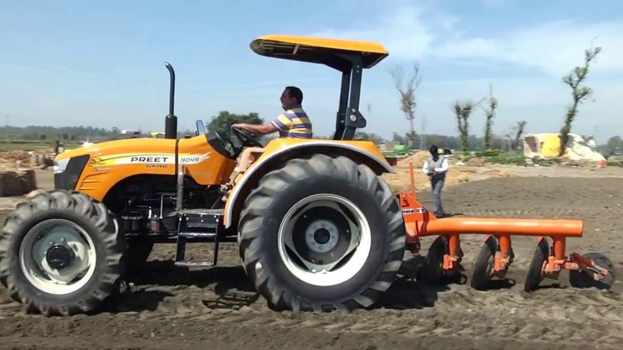 Uses Of Four Wheel Tractor : Preet tractor hp four wheel drive working in field