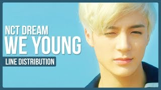 NCT DREAM - We Young Line Distribution (Color Coded)