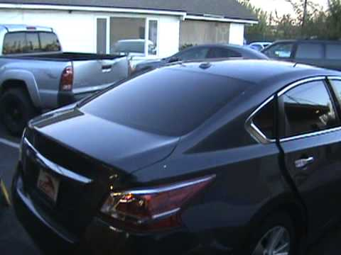 2013 nissan altima window tinting - YouTube