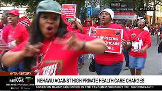 Nehawu pickets against private health care charges