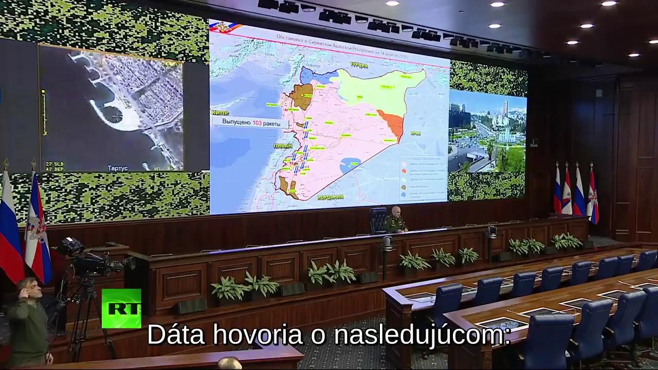 Ruská armáda hodnotí bombardovanie Sýrie Spojenými štátmi z 14.4.2018 (103/71)