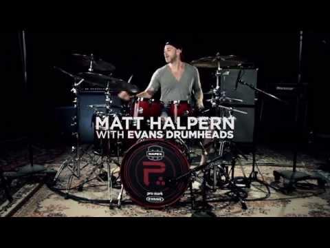 Matt Halpern with Evans Drumheads