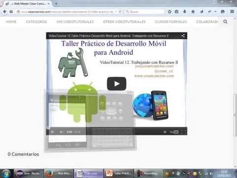 VideoTutorial 13 Taller Práctico Desarrollo Móvil para Android. Recurso AutoCompleteTextView