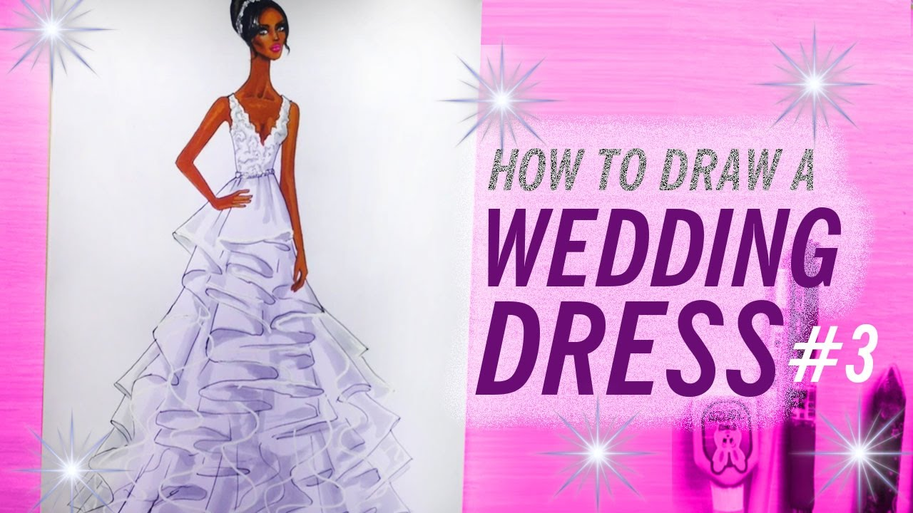 wedding dresses how to draw