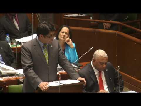 Fijian Minister for Finance, Hon. Aiyaz Sayed-Khaiyum announces 2016-2017 Budget, Part 3