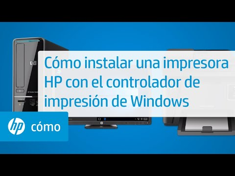 Cómo instalar una impresora HP con el controlador de impresión de Windows | HP Computers | HP