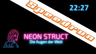 Speedrun: Neon Struct any% in 22:27 minutes