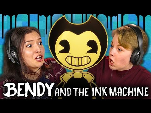 DISNEY HORROR GAME?! | Bendy and the Ink Machine (Teens React: Gaming)