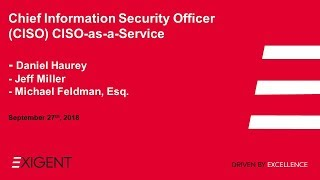 Chief Information Security Officer (CISO) CISO-as-a-Service
