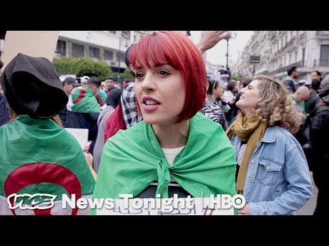 The Youth-Led Protests That Forced Algeria's President To Not Run Again (HBO)