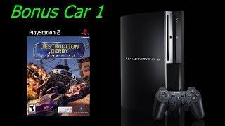 Destruction Derby Arenas Walkthrough (PS2) - Championship Part 21 - Bonus Car 1 - 60 fps