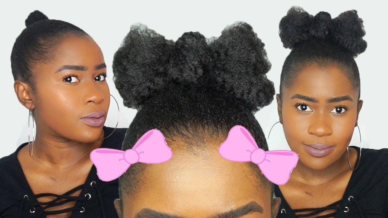 Hair Bow Tutorial On Short Natural Hair 4c For Kids Mona B