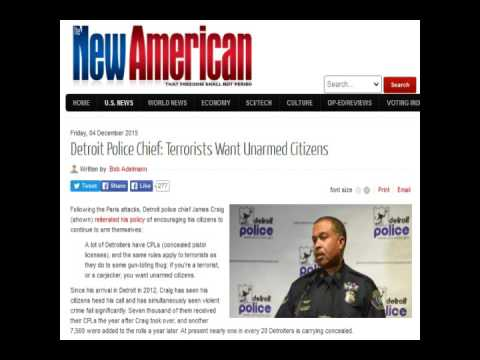 Detroit Police Chief: Terrorists Want Unarmed Citizens